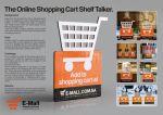 E-Mall Shopping Cart Shelf Talker - Street Marketing - comunica2punto0