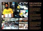 First Floor Bar and Restaurant - Drunken Direction Signs - Street Marketing - comunica2punto0