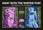 Gillette - Fur Fur Away Towels - Street Marketing - comunica2punto0