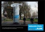 inflatable globe - street marketing - comunica2punto0
