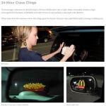McDonald's Crave Clings - Street Marketing - comunica2punto0
