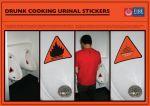 New Zealand Fire Service, Drunk Cooking - Urinal Stickers - Street Marketing - comunica2punto0