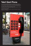 Tele2 - Giant Phone - Street Marketing - comunica2punto0