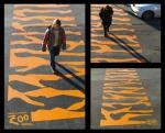 tiger crossing - street marketing - comunica2punto0