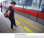wonderbra yellow safety line - Street Marketing - comunica2punto0