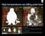 WWF High temperatures are killing polar bear - Street Marketing - comunica2punto0